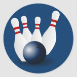 Bowling Pins and Ball Sticker