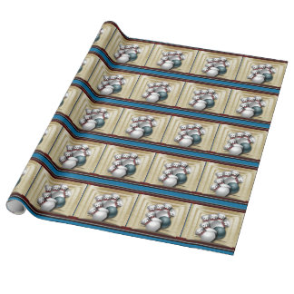 Bowling pins and ball wrapping paper