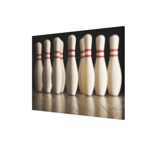 Bowling Pins Canvas Print