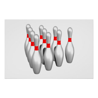 Bowling Pins Poster