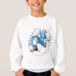 Bowling Pins Strike Cartoon no Hands Sweatshirt