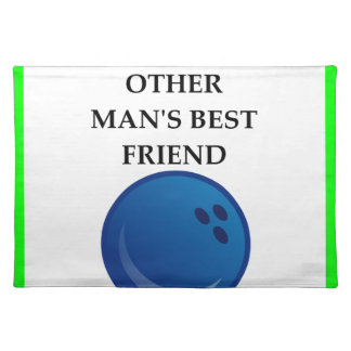 bowling placemat