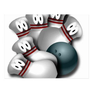bowling postcard