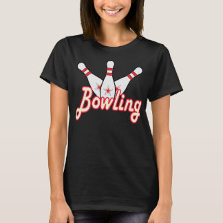 Bowling retro with Pin T-Shirt