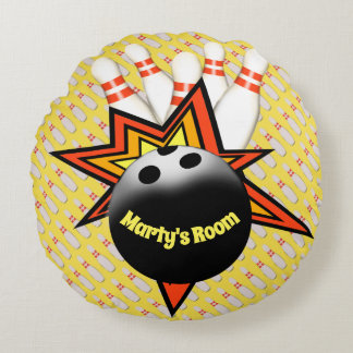 Bowling Round Pillow