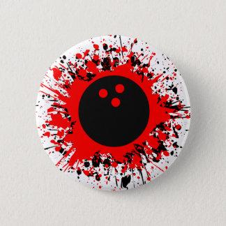bowling splats 6 cm round badge