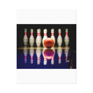 Bowling Stretched Canvas Print