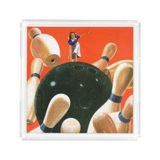 Bowling Strike Acrylic Tray