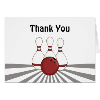 Bowling Thank You Card