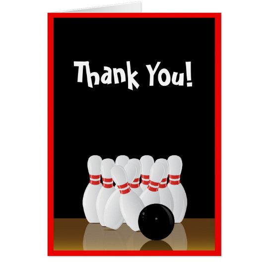 Bowling Thank You Note Card