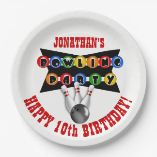Bowling Theme Birthday Party Paper Plate