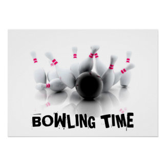 Bowling Time Poster