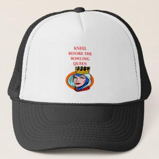 bowling trucker hat