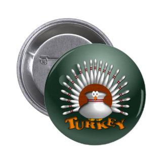 Bowling Turkey 6 Cm Round Badge