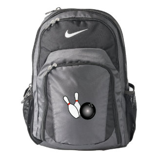 Bowling with Ball and Pins Backpack