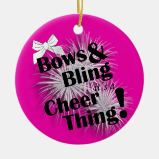 Bows And Bling It's A Cheer Thing Ornament