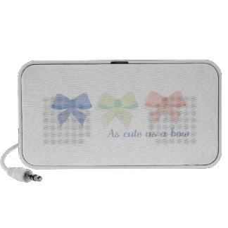 bows_As cute as a bow Laptop Speakers