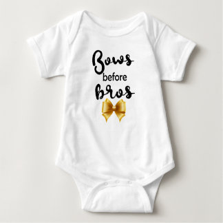 Bows before Bros Baby Bodysuit
