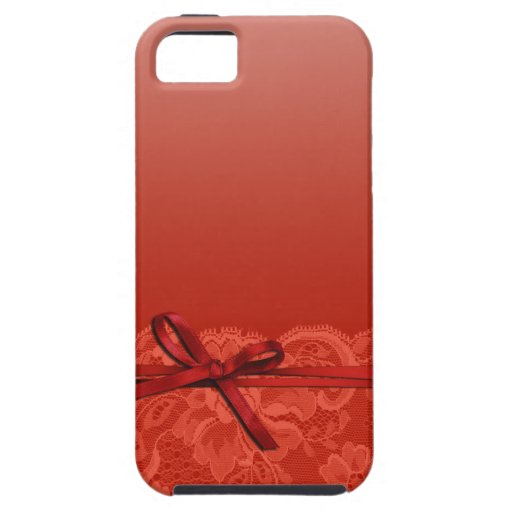 Bows Ribbon & Lace   coral iPhone 5 Covers