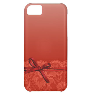 Bows Ribbon & Lace | coral iPhone 5C Case