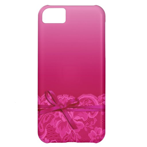 Bows Ribbon & Lace   fuschia iPhone 5C Case
