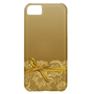 Bows Ribbon & Lace | gold iPhone 5C Case