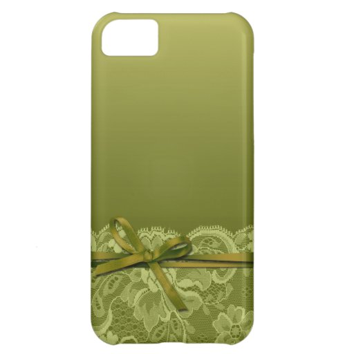 Bows Ribbon & Lace   grass Case For iPhone 5C