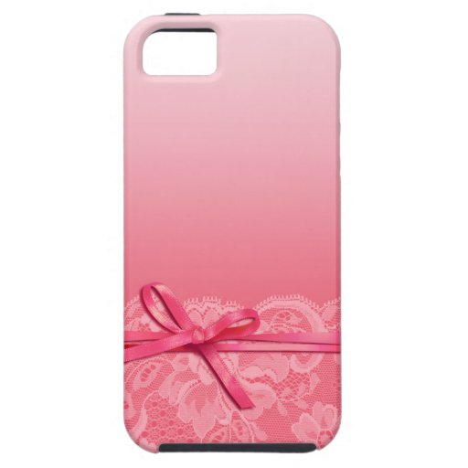 Bows Ribbon & Lace   pink iPhone 5 Covers
