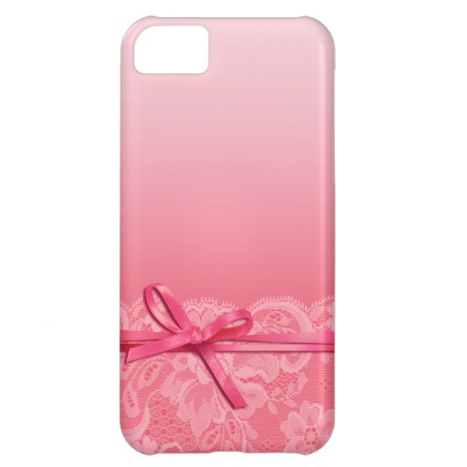 Bows Ribbon & Lace   pink iPhone 5C Covers