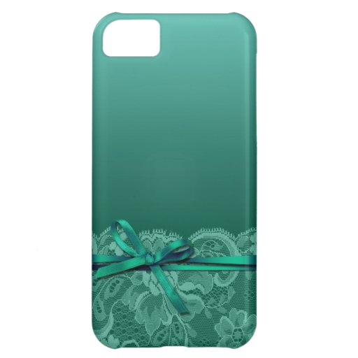Bows Ribbon & Lace   teal iPhone 5C Case