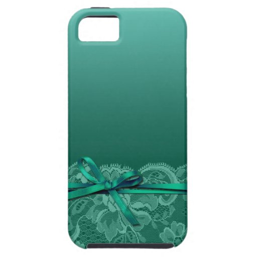 Bows Ribbon & Lace   teal iPhone 5 Cases