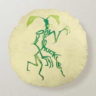 Bowtruckle Typography Graphic Round Cushion