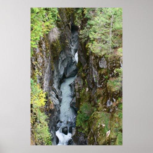 Box Canyon, Mount Rainier Print