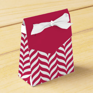 Box Details Elegant for Gift FUCSIA CHEVRON Party Favor Boxes