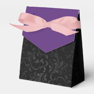 Box Details Elegant for Gift PURPLE Ornament Party Favour Box