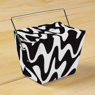 Box Details for Gift Zig Black Zag Waves Party Favour Box