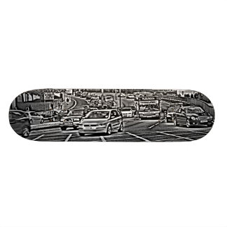 Box Junction in B&W 19.7 Cm Skateboard Deck
