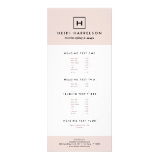 Box Logo Monogram in Light Pink and Black Rack Card