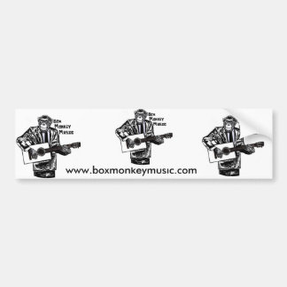Box Monkey Bumper Sticker