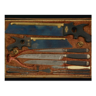 Box of anatomical instruments postcard