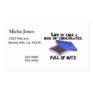 Box Of Chocolates Pack Of Standard Business Cards