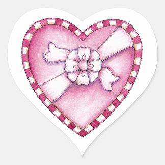Box of Chocolates Heart Sticker