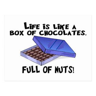 Box Of Chocolates Postcards