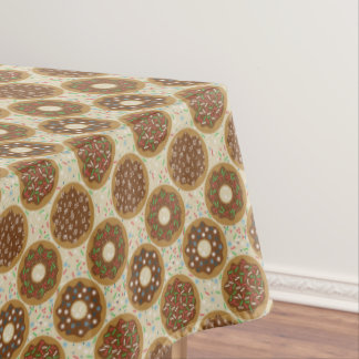 Box of Christmas Donuts Music Sprinkles Food Art Tablecloth