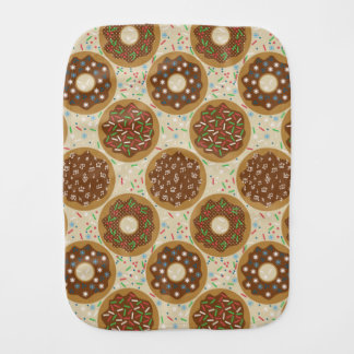 Box of Christmas Doughnuts Music Sprinkles Food Burp Cloth