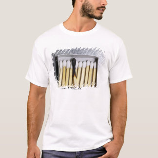 Box of wooden matches with one burned match T-Shirt