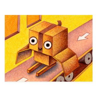 Box owl postcard