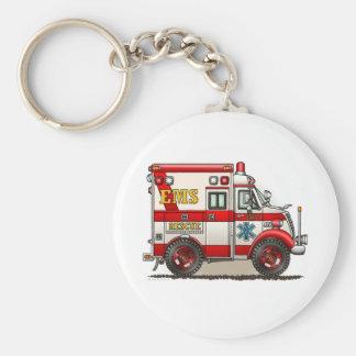 Box Truck Ambulance Keychain