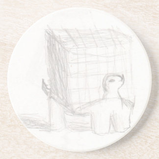box turtle cube drawing Eliana Coaster