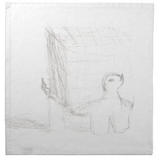 box turtle cube drawing Eliana Napkin